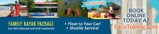 Family Kayak Package, Saco River Tubing Center